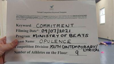 Ministry of Beats - Opulence [Youth - Cont/Lyrical] 2021 Virtual JAMfest Europe