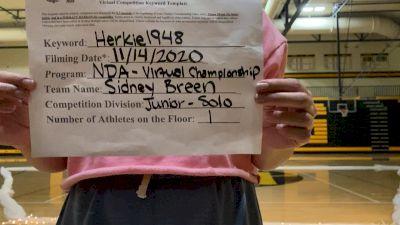 Kenowa Hills High School Sidney [Junior - Best Dancer - Lyrical - Female] 2020 NDA November Virtual Championship