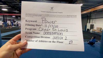 Cheer St. Louis - Domination [L2 Junior - Medium] Varsity All Star Virtual Competition Series: Event V