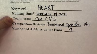 QM CATS - QM CATS [Traditional Recreation - 14 & Younger (NON)] 2021Varsity Recreational Virtual Challenge III