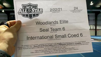 Woodlands Elite - Seal Team 6 [L6 International Open Coed - Small] 2021 NCA All-Star Virtual National Championship