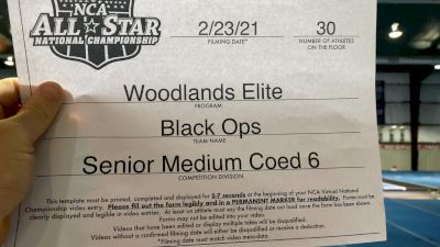 Woodlands Elite - Black Ops [L6 Senior Coed - Medium] 2021 NCA All-Star Virtual National Championship