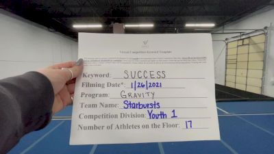 Gravity Cheer - Starbursts [L1 Youth] 2021 Athletic Championships: Virtual DI & DII