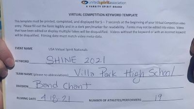 Villa Park High School [High School - Band Chant - Cheer] 2021 USA Spirit & Dance Virtual National Championships