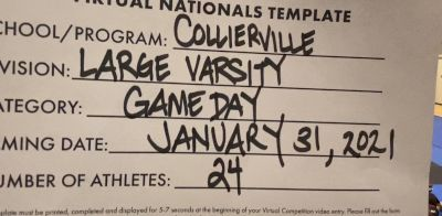 Collierville High School [Virtual Large Varsity Game Day Finals] 2021 UDA National Dance Team Championship