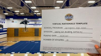 Springboro High School [Game Day Varsity Non-Building Virtual Finals] 2021 UCA National High School Cheerleading Championship