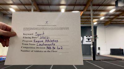 Empire Athletics - Lieutenants [L2 Junior - Non-Building] 2021 PacWest Virtual Championship