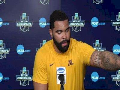 Gable Steveson (Minnesota) after winning the 2021 NCAA Championships at 285 pounds