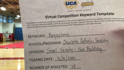 Charlotte Catholic High School [Small Varsity - Non Building] 2020 UCA Virtual Regional