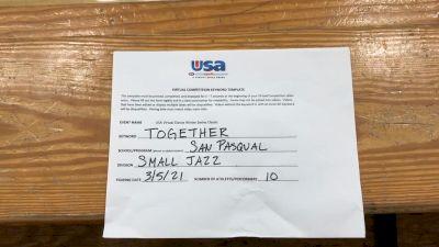 San Pasqual High School [Jazz Varsity - Small] 2021 USA Virtual Dance Winter Classic