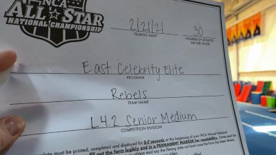 East Celebrity Elite - REBELS [L4.2 Senior - Medium] 2021 NCA All-Star Virtual National Championship