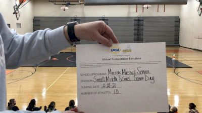 Milton High School [Small JH] 2021 UCA February Virtual Challenge