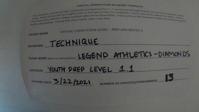 Legend Athletics [L1.1 Youth - PREP - D2] 2021 Varsity Virtual Competition Series - Prep & Novice II