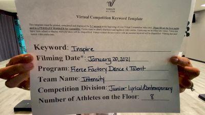Fierce Factory Dance & Talent - Intensity [Junior - Contemporary/Lyrical] 2021 GSSA DI & DII Virtual Championship