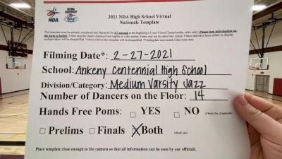 Ankeny Centennial High School [Virtual Medium Varsity - Jazz Finals] 2021 NDA High School National Championship