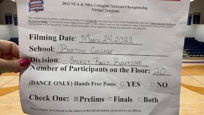 Barton College [Virtual Spirit Rally Open Prelims] 2021 NCA & NDA Collegiate Cheer & Dance Championship