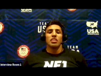 Zahid Valencia (86 kg) after true third match at 2021 Olympic Trials