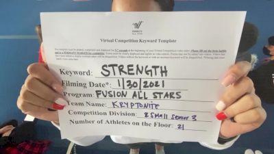 Fusion All Stars - Kryptonite [L3 Senior - Small] 2021 Varsity All Star Winter Virtual Competition Series: Event II