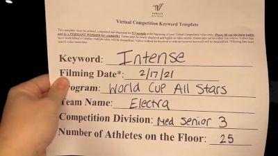 World Cup - Electra [L3 Medium Senior] 2021 Coastal at the Capitol Virtual National Championship