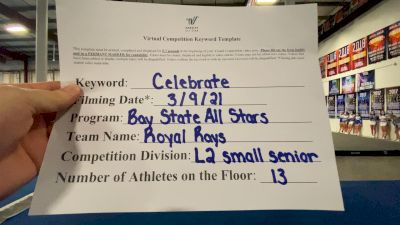 Bay State All Stars - Royal Rays [L2 Senior - Small] 2021 Spirit Festival Virtual Nationals