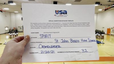 Saint John Bosco High School [Crowdleader] 2021 USA Virtual Spirit Regional #3