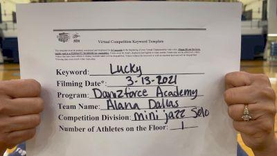 DanzForce Academy - Alana Dallas [Mini Solo Jazz] 2021 NCA & NDA Virtual March Championship