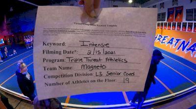 Triple Threat Athletics - MAGNETO [L3 Senior Coed - D2] 2021 Coastal at the Capitol Virtual National Championship