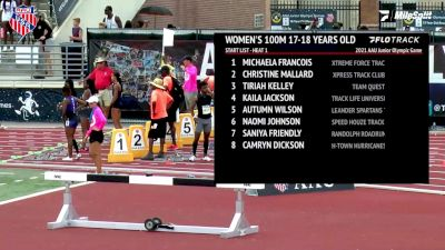 Kaila Jackson Breaks AAU National Record In 100m