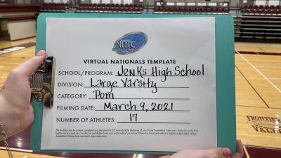 Jenks High School [Virtual Large Varsity - Pom Finals] 2021 UDA National Dance Team Championship