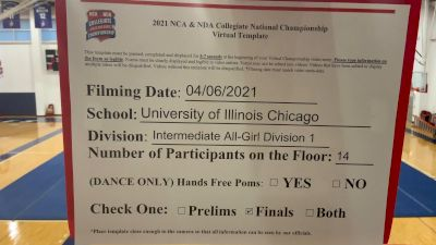 University of Illinois Chicago [Virtual Intermediate All-Girl Division I Finals] 2021 NCA & NDA Collegiate Cheer & Dance Championship