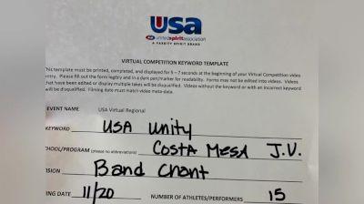 Costa Mesa High School [High School – Band Chant – Cheer] 2020USA Virtual Regional