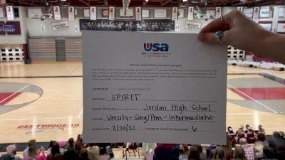 Jordan High School [Varsity - Song/Pom - Intermediate] 2021 USA Virtual Spirit Regional #3
