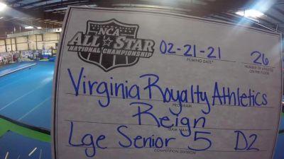 Virginia Royalty Athletics - Reign [L5 Senior - D2 - Large] 2021 NCA All-Star Virtual National Championship