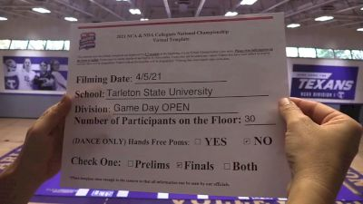 Tarleton State University [Virtual Game Day Finals] 2021 NCA & NDA Collegiate Cheer & Dance Championship