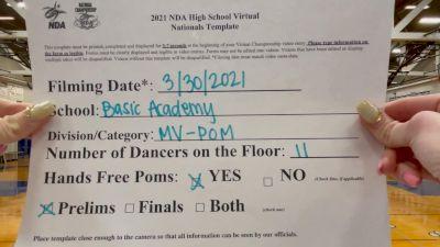 Basic Academy Dance Pack [Medium Varsity - Pom Virtual Prelims] 2021 NDA High School National Championship