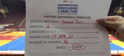 Virginia Tech [Virtual Division IA Semi Finals] 2021 UCA & UDA College Cheerleading & Dance Team National Championship