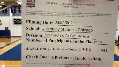University of Illinois at Chicago [Virtual Intermediate All-Girl Division I Prelims] 2021 NCA & NDA Collegiate Cheer & Dance Championship