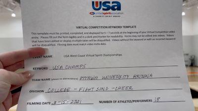 Ottawa University Arizona [College - Fight Song - Cheer] 2021 USA Virtual West Coast Spirit Championships