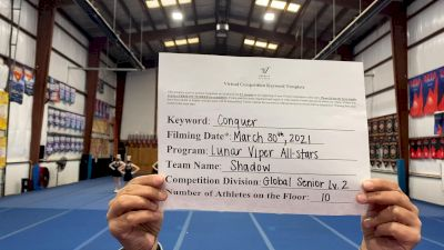 Lunar Viper Allstars - Shadow [L2 Senior - Global NW] 2021 Varsity All Star Winter Virtual Competition Series: Event V