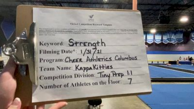 Cheer Athletics - Columbus - KappaKitties [L1.1 Tiny - PREP] 2021 Varsity All Star Winter Virtual Competition Series: Event II