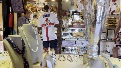 The Guys Check Out A Jewelry Store In Antigua