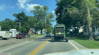 Stuck Behind A Tractor In Ohio Trucking To Wayne County As OH Speedweek Continues