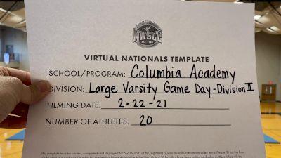 Columbia Academy [Virtual Large Varsity - Game Day Finals] 2021 UCA National High School Cheerleading Championship