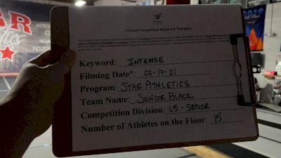 Star Athletics - Senior Black [L5 Senior] 2021 Coastal at the Capitol Virtual National Championship