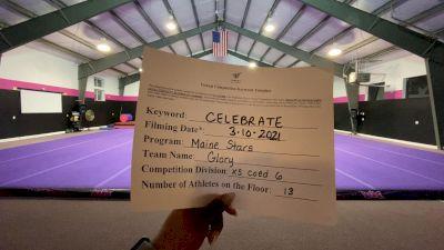 Maine Stars - Glory [L6 Senior Coed - Xsmall] 2021 Spirit Festival Virtual Nationals