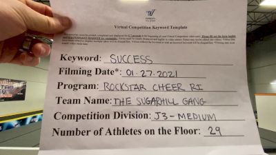 Rockstar Cheer Rhode Island - The Sugarhill Gang [L3 Junior - Medium] 2021 Athletic Championships: Virtual DI & DII