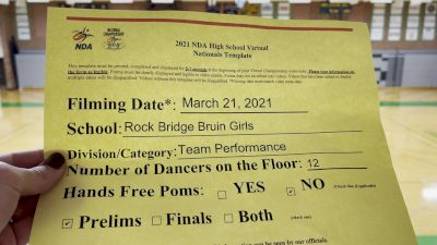 Rock Bridge High School [Virtual Varsity- Team Performance Prelims] 2021 NDA High School National Championship