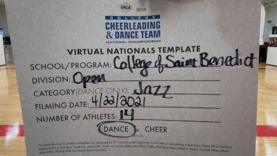 College of St Benedict [Virtual Open Jazz Finals] 2021 UCA & UDA College Cheerleading & Dance Team National Championship
