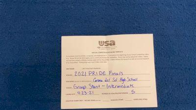 Corona Del Sol High School [HS Group Stunt Intermediate - All Female Finals] 2021 USA Spirit & Dance Virtual National Championships