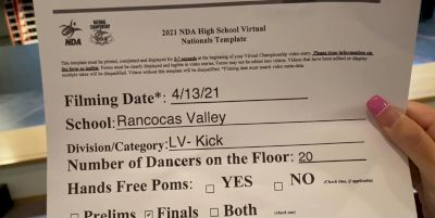 Rancocas Valley High School [Virtual Large Varsity - Kick Finals] 2021 NDA High School National Championship
